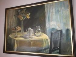Péczely Antal csodálatos, nagyméretű festménye, eredeti.