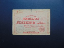 100000 adópengő 1946 vovatkozó sajtóhiba