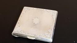 Antik ezüst púderes szelence