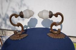 Réz falikarok párban hatalmas méretűek