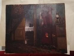 Szepesi kuszka Jenő ő olaj fára festett festmény