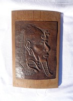 Egyiptomi fej, falikép, Kutasy 1971-es alkotása
