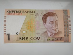 Kirgizisztán  1 com  1999 UNC további bankjegyek a kínálatomban