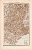 Francia - Olaszország Alpok térkép 1887, német, eredeti, régi, Európa, Délkelet - Franciaország