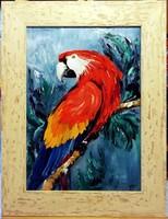 Czinóber - Prince of Amazonia ( 21 x 30, olaj, gyönyörű keretben )