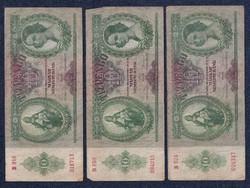 3 db magyar 10 pengő/id 8565/