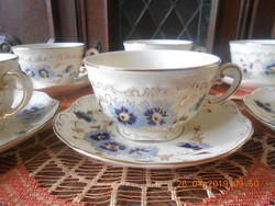 Zsolnay búzavirágos teás készlet
