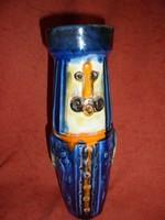 Figurás kerámia váza