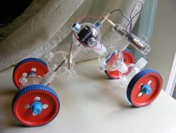 Retro orosz elektromechanikus robot tervező építő játék Modul -10