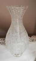 Dúsan díszített csiszolt ólomkristály váza hibátlan