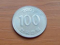 DÉL-KOREA 100 WON 2007 (I Szunsin) #