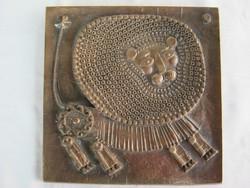Kopcsányi réz fali dísz oroszlán