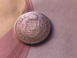 1892 ezüst 1 forint ritkább Fiume címer