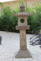 Bazalt pagoda (kőlámpás), keleti, kínai, japán, ázsiai