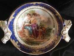 Alt-Wien-Austria-porcelán kínáló- görög leples hölgyekkel