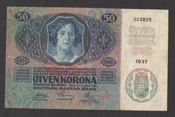 50 korona 1914.  EF+!!  GYÖNYÖRŰ!!  RITKA!!