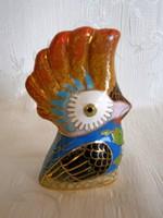 Nagyon ritka, különleges Kínai tűzzománc porcelán papagáj