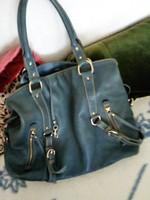 Nagyméretű jól pakolós acélkék ecobőr eredeti Betty Barclay táskám hibátlan karcmentes 47x36x10 elad
