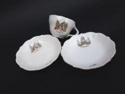 Aquincum szuvenír kávéscsésze - Esztergom és Veszprém emléktárgyak