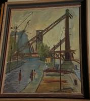 Murai Jenő (1918 - ) : Erzsébet-híd építése, 1960