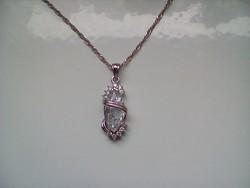 Csodaszép cirkon köves ezüst medál+ ajándék lánc