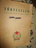 1949 évi Rákosi címerrel történelem tankönyv