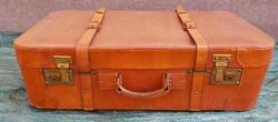 Régi bőr utazó bőrönd , koffer