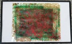 Hantai Simon :  Absztrakciós folyamat II. Olaj .papír. Mérete: 50x40 cm