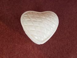 Szív alakú régi kerámia bombonier