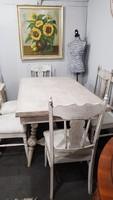 Provence étkezőasztal 6 db székkel
