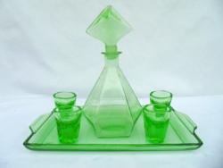 Uránzöld likőrös készlet