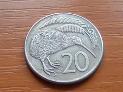 ÚJ-ZÉLAND NEW ZEALAND 20 CENT 1980  KIWI MADÁR #