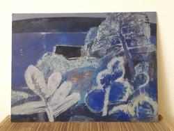 Balogh Ervin: Balaton - 80x60 cm - Balatonpart, balatoni emlék festmény - zsűrizett képcsarnokos