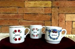 Szecessziós porcelánbögrék