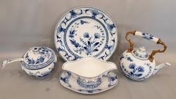 Gyönyörű szép antik fischer & mieg of pirkenhammer bohemia porcelán készlet darabok