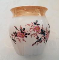 Régi virágos porcelán kis csupor bögre 9.5 cm