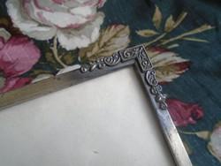Antik,  angol fém képkeret.