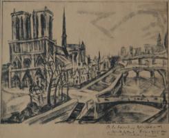 Perlrott Csaba Vilmos: A párizsi Notre-Dame, 1925-ben - a székesegyház eredeti állapotában!