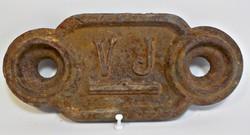 V. J. antik vasöntvény vízi malom vízszint jel tábla