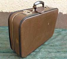 Régi  utazó bőrönd , koffer Kazeto