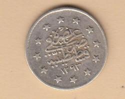 Törökország AH1293/28   1 és 2 Kurush Ag II. Abdul Hamid T:2/3