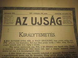 KUK FERENC JÓZSEF CSÁSZÁR KIRÁLY TEMETÉS KORABELI ÚJSÁG TUDÓSÍTÁS 1916