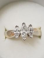 14 karátos arany gyűrű 1 karát brilliáns valódi gyémánt