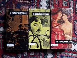 Naturalizmus, Szimbolizmus, Szecesszió - 3 db könyv együtt