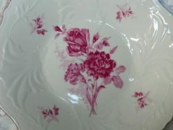 Gyönyörű lila virágos tálaló, tányér, kínáló