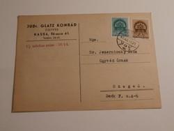 Ügyvédi futott Levelezőlap a visszatért Kassáról 1941