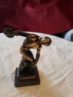 Görög réz diszkoszvető szobor   eladó