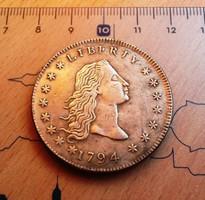 PATINÁS LIBERTY USA DOLLAR 1794 U.V.
