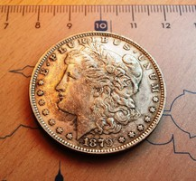 PATINÁS USA MORGAN DOLLAR 1879 CC- U.V.
