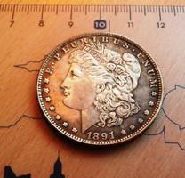 PATINÁS USA MORGAN DOLLAR 1891 CC- U.V.